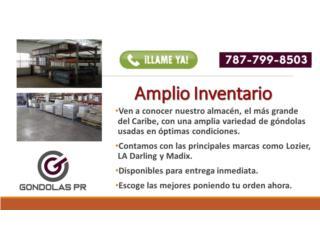 Almacén de góndolas usadas, pract. nuevas, Gondolas PR Puerto Rico