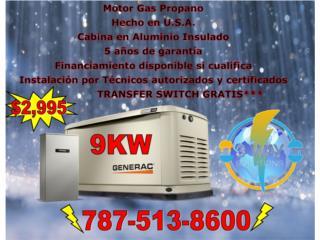 San Juan-Río Piedras Puerto Rico Puertas Garage, Generador eléctrico 9KW