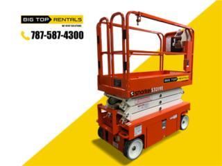Scissor Lift (Tijera) Varios Modelos y Marcas, Big Top Rentals - Equipo de Construcción Puerto Rico