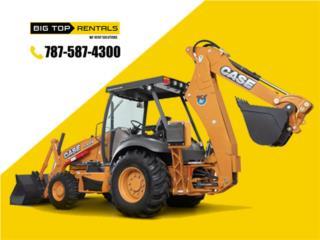 Backhoe loader (Digger) Excavadora, Big Top Rentals - Equipo de Construcción Puerto Rico