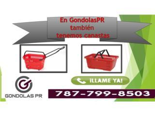 Canasta con ruedas y sin ruedas, para compras, Gondolas PR Puerto Rico