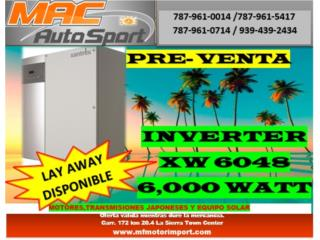 INVERTER 6048 XW PRE-VENTA 6,000 WATT, Mf motor import Puerto Rico
