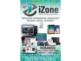 Pantallas, baterías y más - iPhone - Android, iZone Technology San Juan Puerto Rico