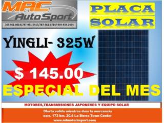 PLACA SOLAR YINGLI 325 WATT, Mf motor import Puerto Rico