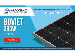 Panel Solar Boviet 385W Mono - DISPONIBLES, MAXIMO SOLAR INDUSTRIES Puerto Rico