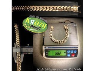 "Pulsera Cubana Solida 14.5mm 8.5"" 14kt $4,590, Krazy Pawn Corp Puerto Rico"