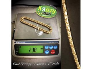 "Cadena Fancy 5.5mm 24"" 10kt $1,140.00 , Krazy Pawn Corp Puerto Rico"