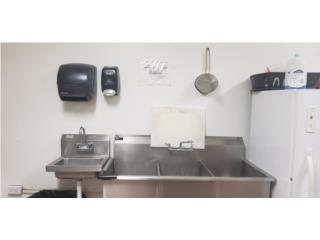 1 fregadero 3 bocas y 2 lavamanos de SST, Yaelys Pizza and Pasta Corpora Puerto Rico