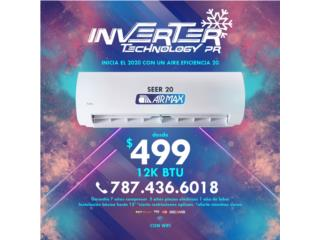 AIRMAX 20 SEER WIFI 499.00 INSTALADO , Inverter Technology PR Puerto Rico