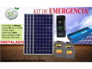 Eco 3024 Kit de emergencia solar , Aspiradoras Rainbow P.R Puerto Rico