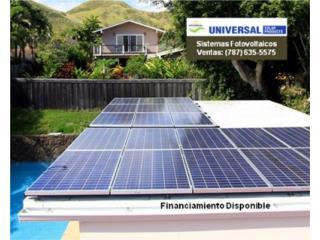 SISTEMA SOLAR DE ELECTRICIDAD / $0 PRONTO, VENTA - SERVICIO UNIVERSAL OFICINA (787) 635-5575 Puerto Rico