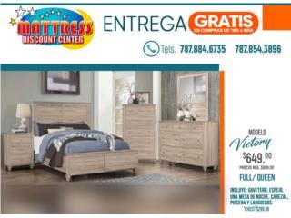 Juego de Cuarto Victory Full/Queen, Mattress Discount Center Puerto Rico