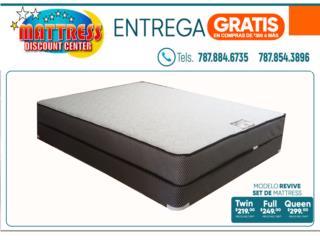 Set de mattress, Modelo Revive., Mattress Discount Center Puerto Rico