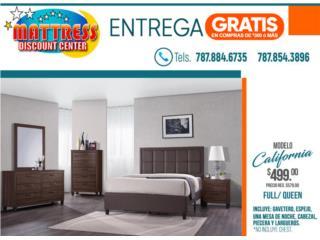 Juego de Cuarto California Full o Queen, Mattress Discount Center Puerto Rico