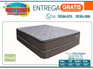 Set de mattress Bassett, Chiro Support DPT, Mattress Discount Center Puerto Rico