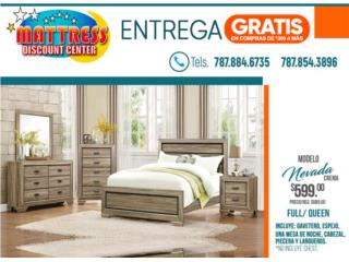 Juego de Cuarto Nevada, Mattress Discount Center Puerto Rico