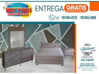 Juego de cuarto Italiano en 100% PVC, Mattress Discount Center Puerto Rico