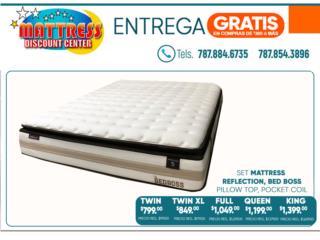Set de mattress, Modelo Reflection Bed Boss, Mattress Discount Center Puerto Rico
