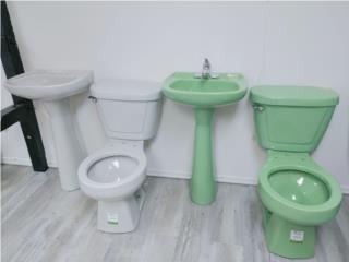 Inodoros y lavamanos en colores , Ferreteria Ace Berrios Puerto Rico