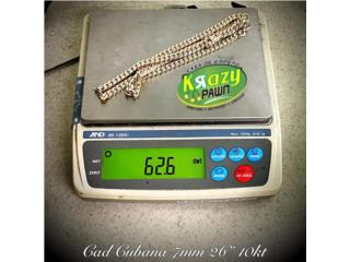 "Cadena Cubana 7mm 26"" 10kt $2,630.00, Krazy Pawn Corp Puerto Rico"