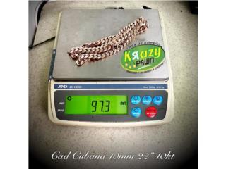 "Cadena Cubana Rose Gold 10mm 22"" 10kt $4,285., Krazy Pawn Corp Puerto Rico"