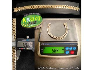 "Puls Cubana Solida 12mm 8.5"" 14kt $3,155.00, Krazy Pawn Corp Puerto Rico"