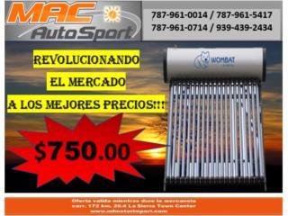ESPECIAL!!! CALENTADOR SOLAR DE 80 GALONES, Mf motor import Puerto Rico