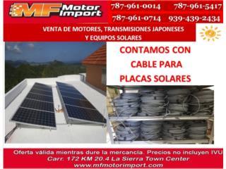 CABLE PARA PLACAS SOLARES, Mf motor import Puerto Rico