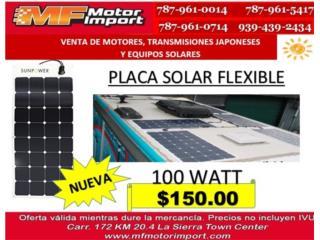 PLACA SOLAR FLEXIBLE 100 WATT, Mf motor import Puerto Rico