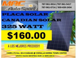 PLACA SOLAR CANADIAN SOLAR 325 WATT, Mf motor import Puerto Rico