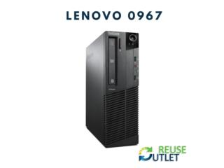 LENOVO 0967 (250GBHDD-4GBDDR3RAM-PENTIUM-W7), Reuse Outlet Store Puerto Rico