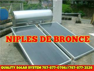 CAL.SOLAR Y CISTERAS,ST.STEEL 100% CALIDAD, Quality Solar System 787-517-0663 Puerto Rico