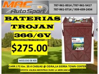 BATERIA TROJAN SSIG  366AH/6V, Mf motor import Puerto Rico