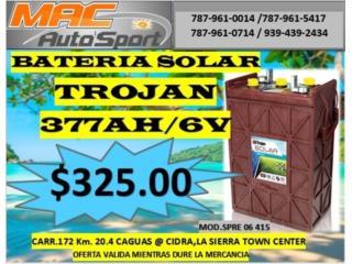 BATERIA SOLAR TROJAN SPRE 377AH/6V, Mf motor import Puerto Rico
