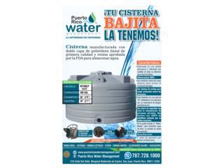 Cisterna 400 galones bajita, Puerto Rico Water Puerto Rico