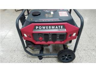 Generador Electrico Powermate 4500 watts, LA FAMILIA MANATI  Puerto Rico