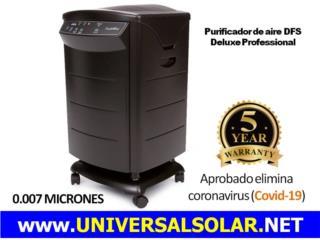PURIFICADOR DFS - ELIMINA COVID-19 DEL AIRE, UNIVERSAL SOLAR PRODUCTS, INC. Desde 1965 en PR. Puerto Rico