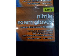 NITRILE EXAM GLOVES LARGE , WSB Supplies U Puerto Rico