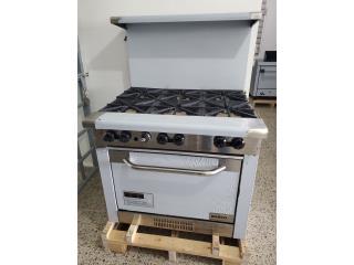 Estufas de 6 hornilla con horno , PR. EQUIPOS Puerto Rico