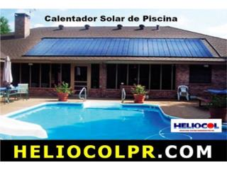 PISCINA CALENTADOR SOLAR_HELIOCOLPR.COM, UNIVERSAL SOLAR PRODUCTS, INC. Desde 1965 en PR. Puerto Rico