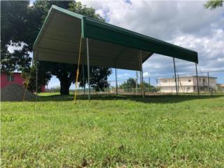 CARPORT 10x20 - TUBOS ISOLITE/TECHO GALVALUME, Pepino Canopy's Puerto Rico