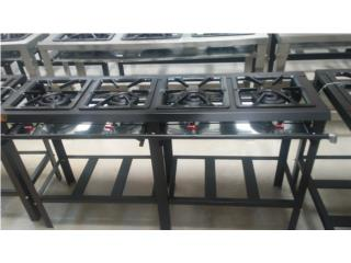 ESTUFA 4 QUEMADORES gas (PIEZAS-SERVICIO), AA Industrial Kitchen Inc Puerto Rico