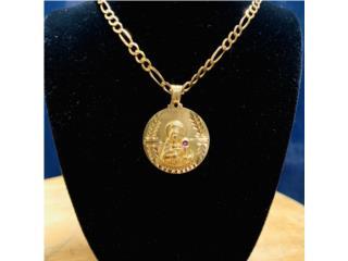 Charm Medalla Virgen en Oro 14kt , CashEx Puerto Rico