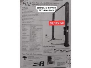 Pino Hidraulico R12 Two-Post lift $9,122.50, Zafira LTV Service Corp. Puerto Rico