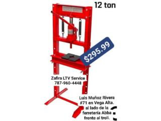 Prensa 12Ton $295  Vega alta, Zafira LTV Service Corp. Puerto Rico