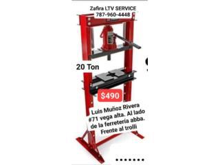 Prensa de 20 Ton $490 Vega alta, Zafira LTV Service Corp. Puerto Rico