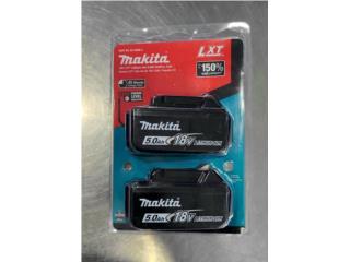 Set doble de baterias Makita 18V 5.0 AH nueva, La Familia Casa de Empeño y Joyería-Mayagüez 1 Puerto Rico
