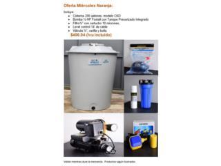 Cisterna 200 gls, Bomba, Filtro, Level ect, Puerto Rico Water Puerto Rico