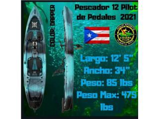 Pescador Pilot 12 2021 Pedales con Garantía , Aqua Sports P.R Distributors 1991 787-782-6735 Puerto Rico