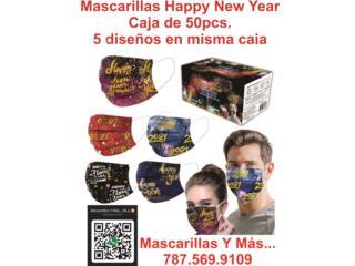 Guaynabo Puerto Rico COVID-19 Equipo Protección, Mascarillas con 5 diseños 2021 misma caja